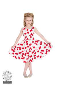 Bilde av H&R Bombshell Hvit Cherry Swing Kjole
