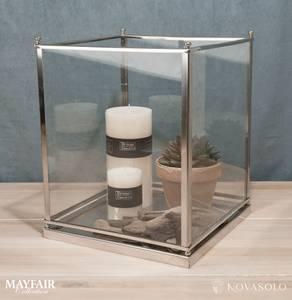 Bilde av Mayfair lykt i glass og krom (stor)