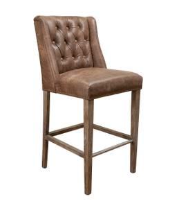 Bilde av Chateau barstol (vintage leather - brun)