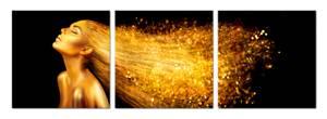 Bilde av Golden thoughts (sett av 3 stk. 80x80 bilder Plexiglass)