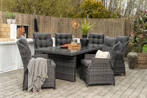 Bilde av Imperia spisegruppe - bord 230 + 6 komfort hagestol (mountain grey)