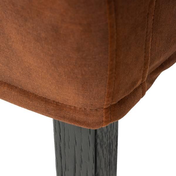 Noma spisestol med armlene (Rust velour)