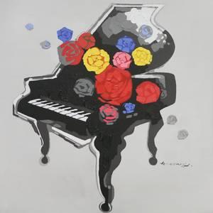 Bilde av Flower Piano (120x120)