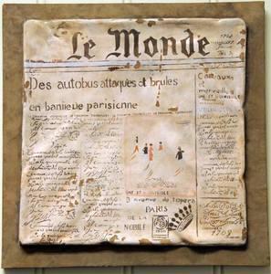 Bilde av Provence veggtavle med avistrykk