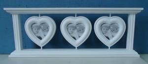 Bilde av Bilderamme m/ 3 hjerteformede rammer