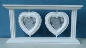 Bilde av Bilderamme m/ 2 hjerteformede rammer