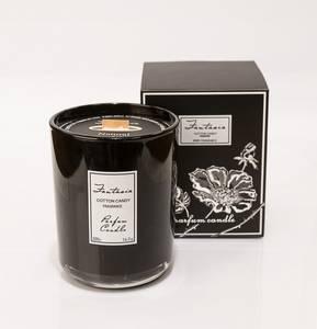 Bilde av Stort Fantasia duftlys i sort glass (Bergamont)