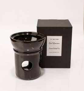 Bilde av Fantasia oljebrenner i sort keramikk m/olje (Sandalwood)