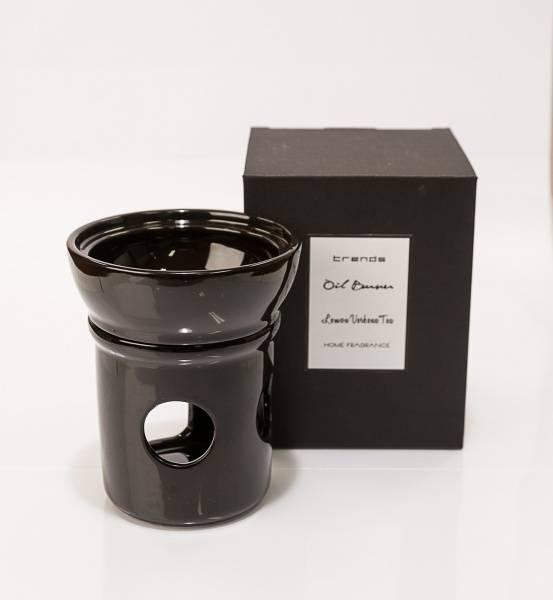 Fantasia oljebrenner i sort keramikk m/olje (Sandalwood)