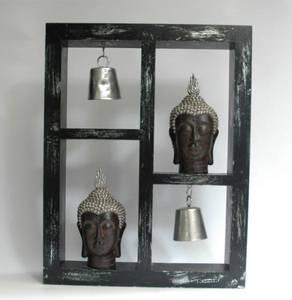 Bilde av Bazar Buddha dekorasjon m/hoder og bjeller (46 cm)