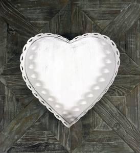 Bilde av White Heart lysfat (liten)