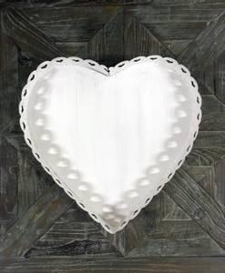Bilde av White Heart lysfat (stor)