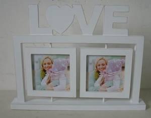 Bilde av LOVE treramme med svingbare bilderammer