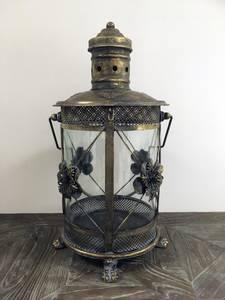 Bilde av Floral lanterne (Antikkgull - 49 cm)