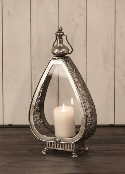 Dråpe lanterne (antikksølv - 45 cm)