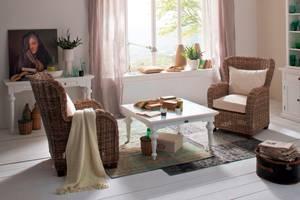 Bilde av Provence sofabord (Hvit - 100x100)
