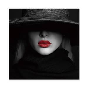 Bilde av Red Lips (120x120 bilde Plexiglass)