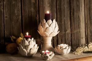 Bilde av Angelica keramikkblomst til telys (liten)