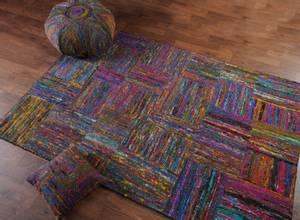 Bilde av Silk Lane gulvteppe II (140x200 cm) Sort
