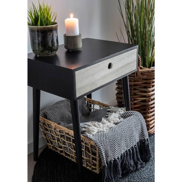 Cort teppe (sort og hvit - 170x130)
