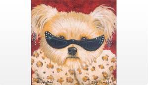 Bilde av Hund med solbriller 36X36X3,5