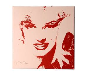 Bilde av Red and White Marilyn 40x40