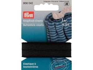 Bilde av Elastikk med knappehull 18mm svart