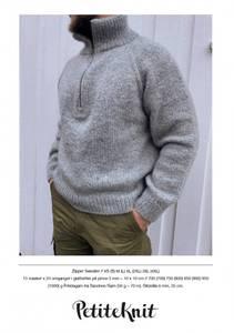 Bilde av PetiteKnit Zipper sweater Mann - Garnpakke