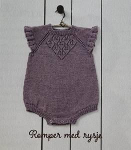 Bilde av Hjerteblad Romper med Rysje - Garnpakke