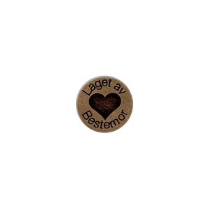 Bilde av Ringknapp med fylt hjerte