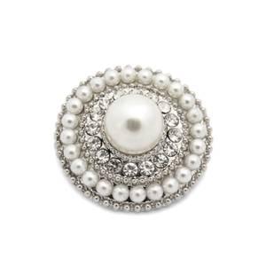 Bilde av Knapp med Diamanter/Bling og perler 24mm
