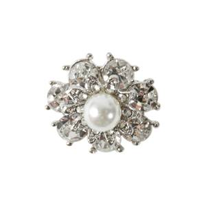 Bilde av Knapp med Diamanter/Bling og liten perle 20mm