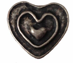 Bilde av Sølvknapp Hjerte 18mm