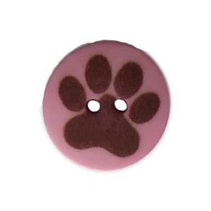 Bilde av Lilla knapp med poteavtrykk 15mm