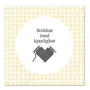 Bilde av Kort - Strikket med kjærlighet