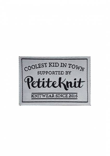 COOLEST KID IN TOWN SUPPORTED BY PETITEKNIT -Label