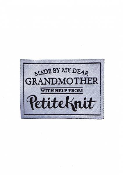 MADE BY MY DEAR GRANDMOTHER WITH HELP FROM PETITEKNIT -Label