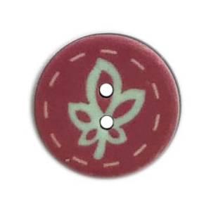 Bilde av Gammelrosa gummi knapp med blad
