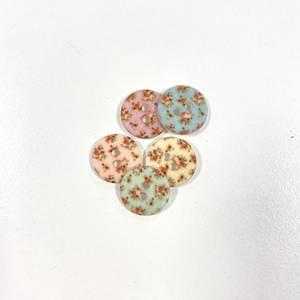 Bilde av knapp med små blomster - 12mm