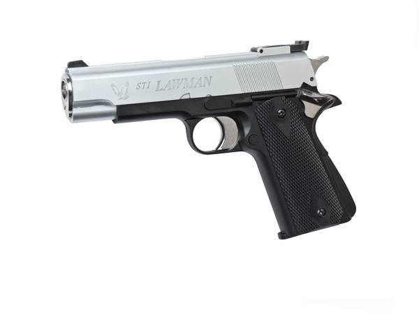 Bilde av STI Lawman Gass Softgun - Sort og Sølv