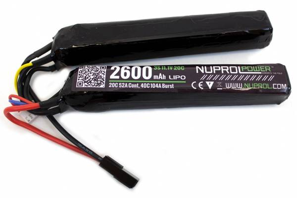 Bilde av NP Li-Po Batteri - 11.1V 2600mAh - Twin Stick