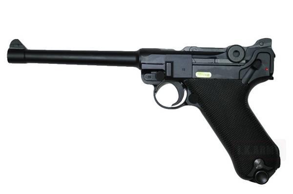 Bilde av WE - Luger P08 6 Gassdrevet Airsoftpistol med