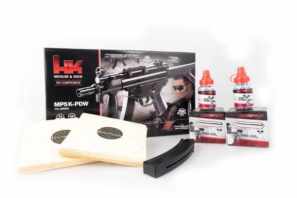 Bilde av H&K MP5K PDW Co2 Maskin Pistol MegaPakke - 4.5mm