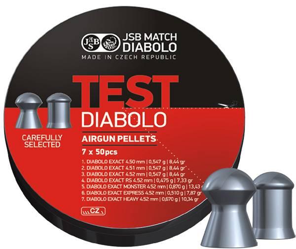 Bilde av JSB Exact Testpakke - 4.5mm - 350stk