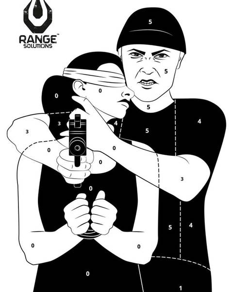 Bilde av Range Solution - Hostage Target - 50stk