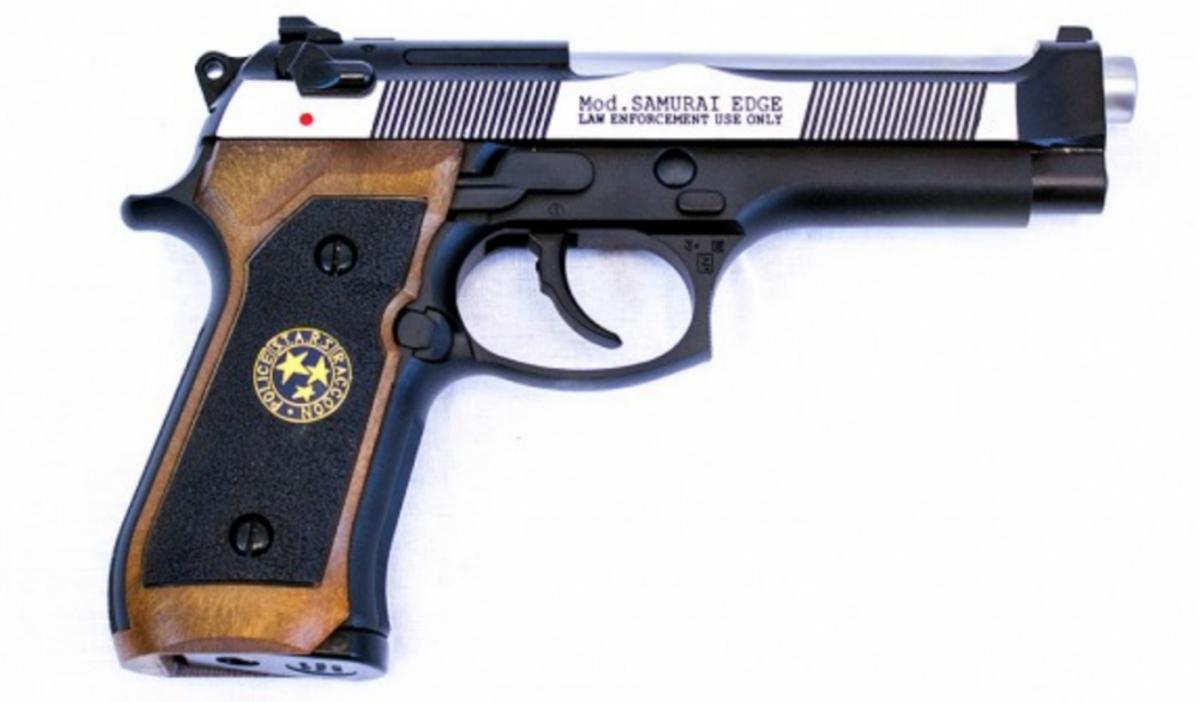 WE - M92 Samurai Edge Fullauto - Resident Evil  - Svart/Sølv