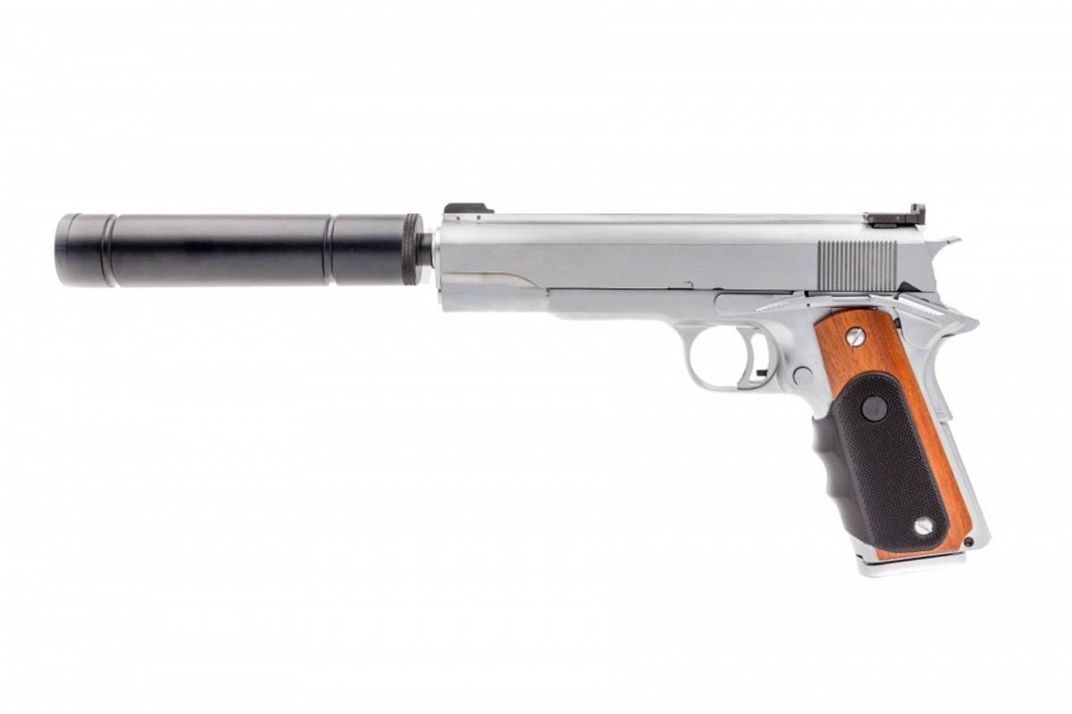 Vorsk - VX-9 Agency Gassdrevet Softgunpistol - Chrome/Svart