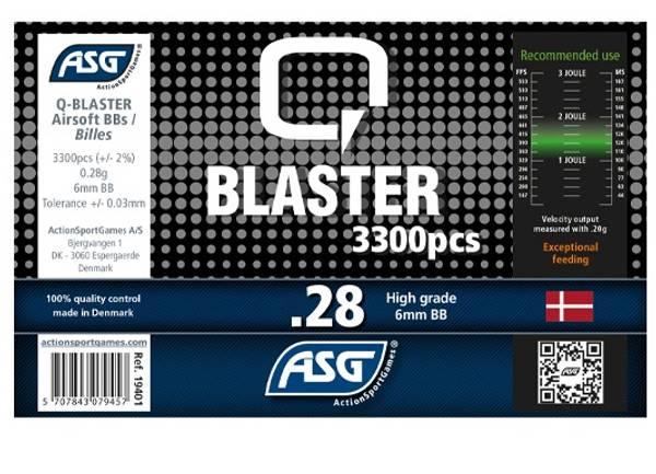 Bilde av Q-Blaster Softgunkuler - 0.28g 3300stk
