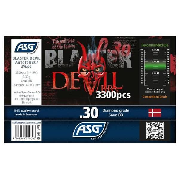 Bilde av Blaster Devil Softgunkuler 0.30g - 3300stk