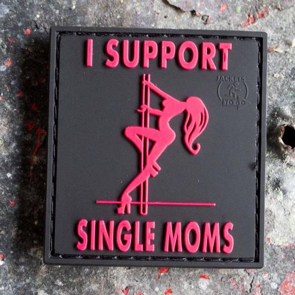 Bilde av Patch - I Support Single Moms Rubber - Blackmedic